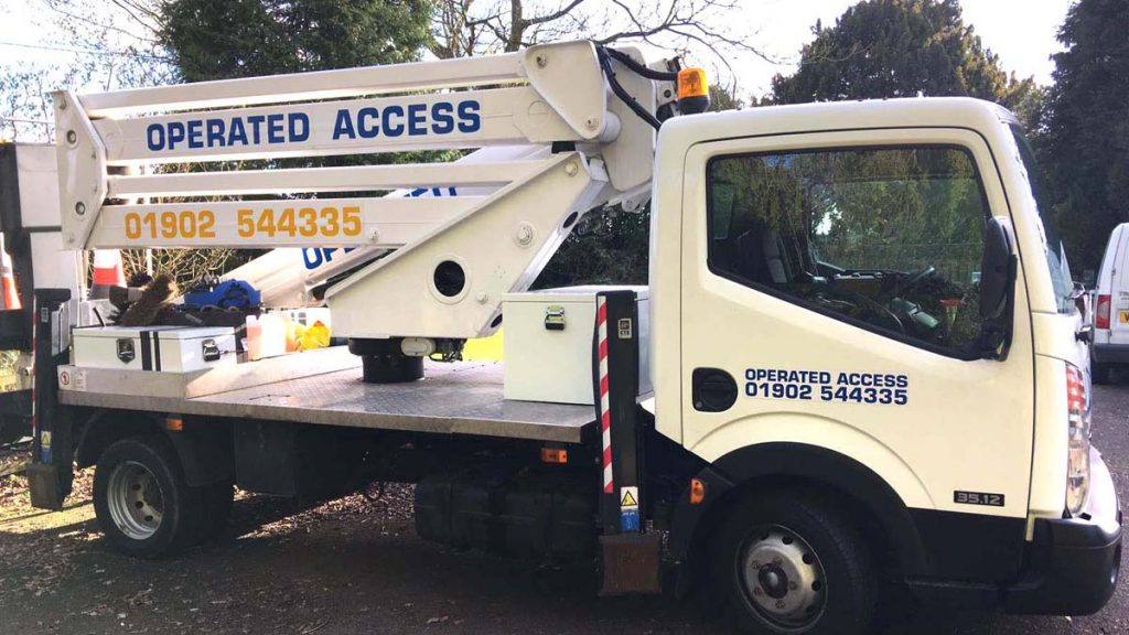 Operated Access cherry picker hire Wolverhampton UK