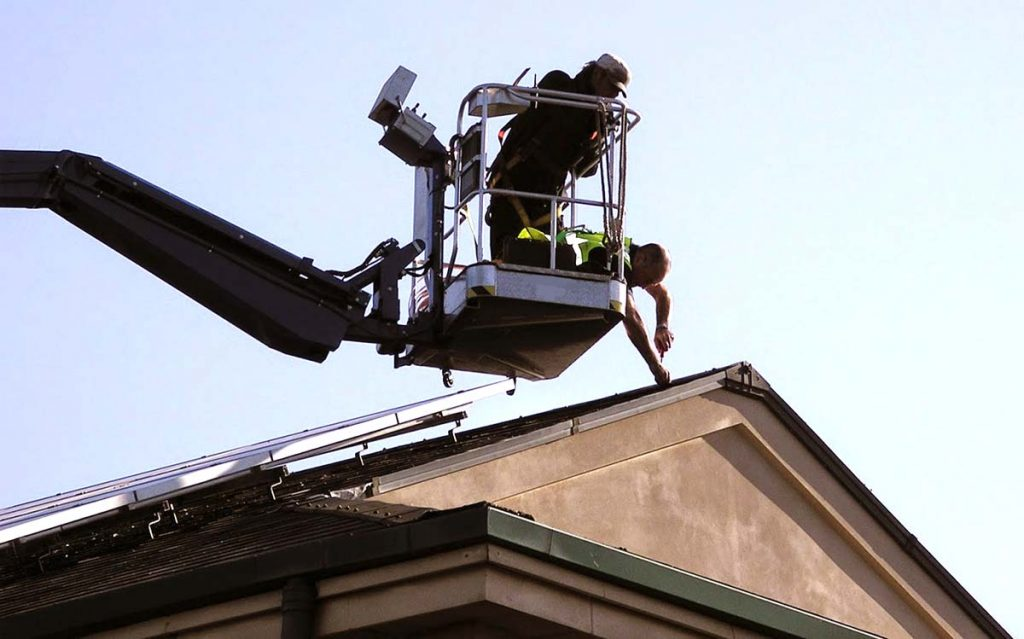 Cherry picker hire services for Property Maintenance in the UK